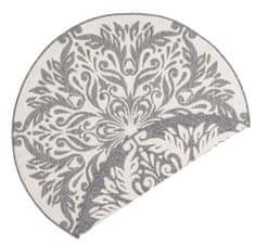 Bougari Kusový koberec Twin Supreme 103416 Madrid grey creme 200x200 (průměr) kruh