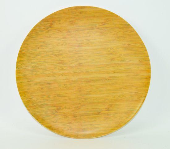 DUE ESSE Talíř Bamboo Nature 27 cm, světlý