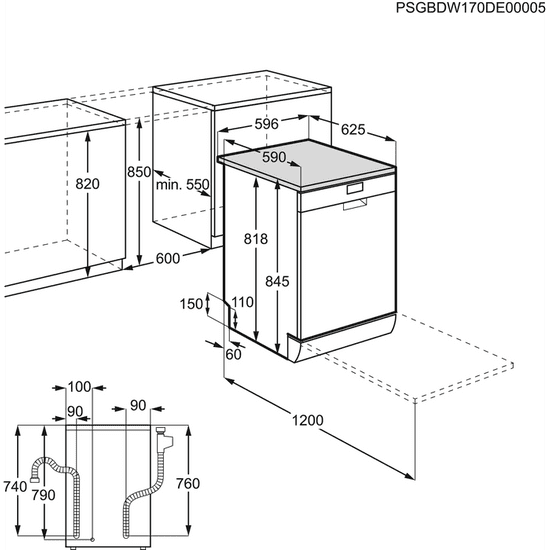AEG myčka nádobí Mastery FFB52910ZW