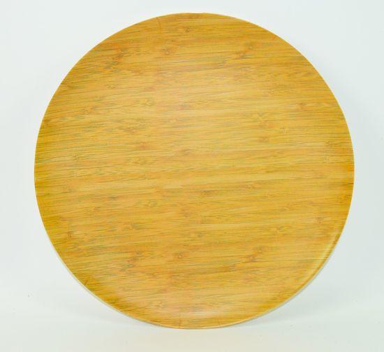 DUE ESSE Talíř Bamboo Nature 20 cm, světlý