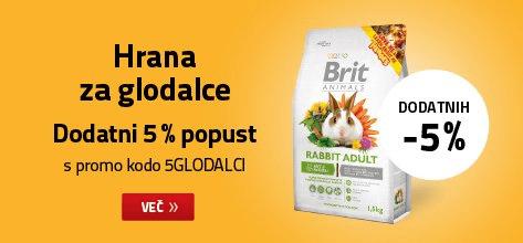 Hrana za glodalce dodatnih 5% ceneje