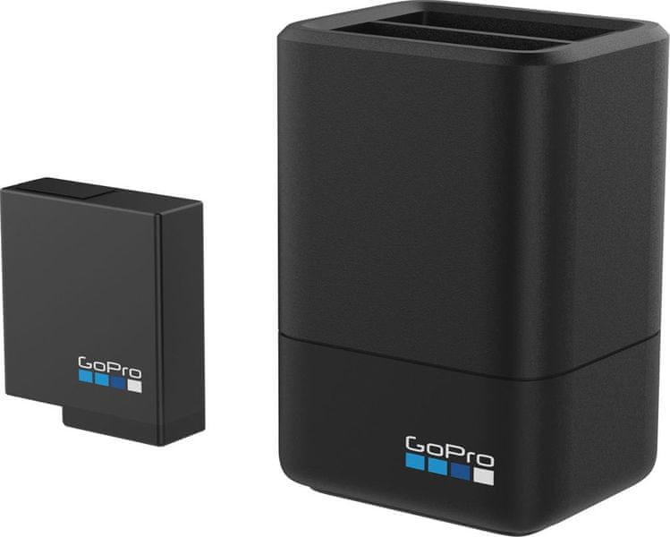 GoPro Dual Battery Charger + Battery (HERO5 Black/HERO6 Black/HERO7 Black) (AADBD-001)