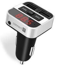 Connect IT InCarz Bluetooth transmitter, stříbrný, CCC-8800-SL