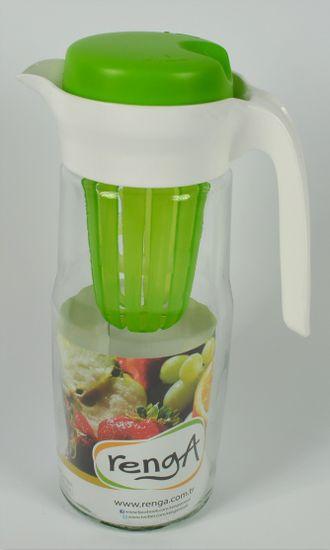 DUE ESSE Skleněný džbán na limonádu 1,5 l, zelený