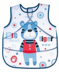 Canpol babies Bryndák zástěra s kapsou PUPPETS modrý