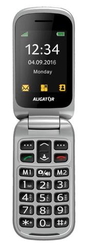 Aligator V650 Senior, černostříbrný + stol. nab.