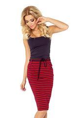 Numoco Dámska sukňa 127-1 red-black, čierno-červená, XL