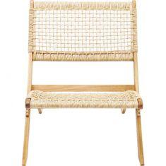 KARE Skládací židle s výpletem Copacabana