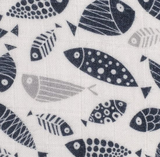 XKKO pelena od organskog pamuka Fish, 120x120
