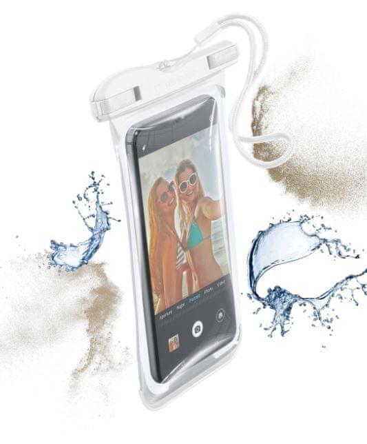 CellularLine Vodotěsné univerzální pouzdro pro mobilní telefony VOYAGER 2019, bílé, VOYAGER19W