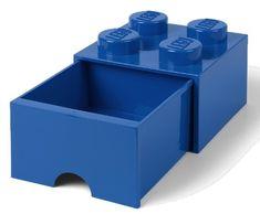 LEGO Úložný box 4 s šuplíkem modrá