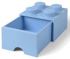 LEGO Úložný box 4 s šuplíkem světle modrá