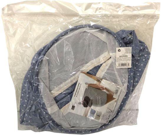 DUE ESSE Látkový skládací koš na prádlo 35 cm, světle modrý