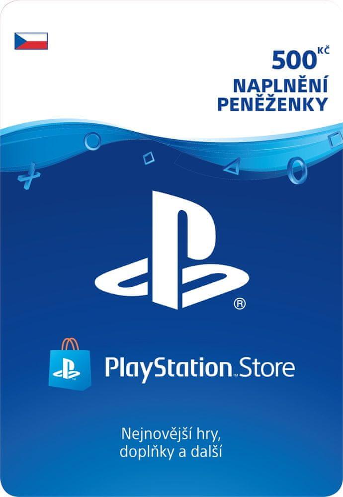Sony PlayStation Store naplnění peněženky 500 Kč (SCEE-CZ-00050000) - elektronicky