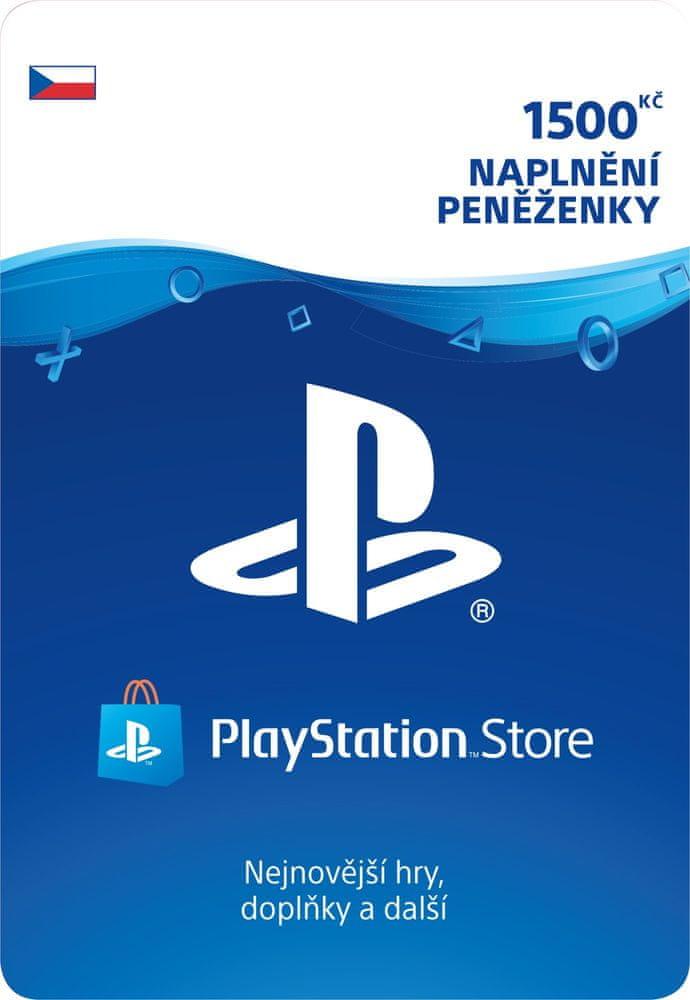 Sony PlayStation Store naplnění peněženky 1500 Kč (SCEE-CZ-00150000) - elektronicky