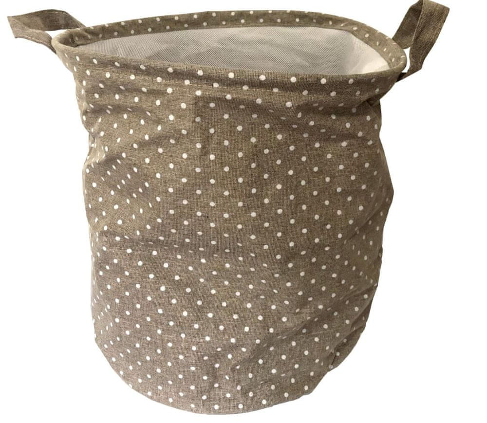 DUE ESSE Látkový skládací koš na prádlo 35 cm, světle hnědý