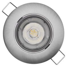 EMOS LED spotlámpa Exclusive ezüst, meleg fehér (8 W)