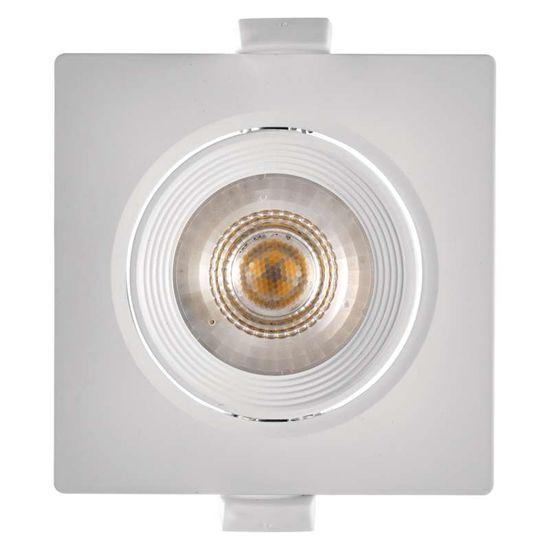 EMOS LED bodové svietidlo biele, štvorec, neutrálna biela (7 W)