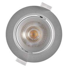 EMOS LED spotlámpa ezüst, kör, meleg fehér (7 W)