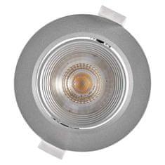 EMOS LED spotlámpa ezüst, kör, semleges fehér (7 W)