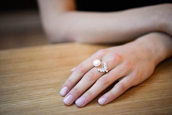 JwL Luxury Pearls LuksusowySrebrny pierścionek z pereł i kryształy JL0547 srebro 925/1000