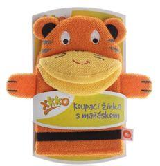 XKKO myjka z pacynką Tygrys - pomarańczowa