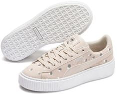 Puma Suede Platform Dots Jr, ženski športni čevlji, bež, 38