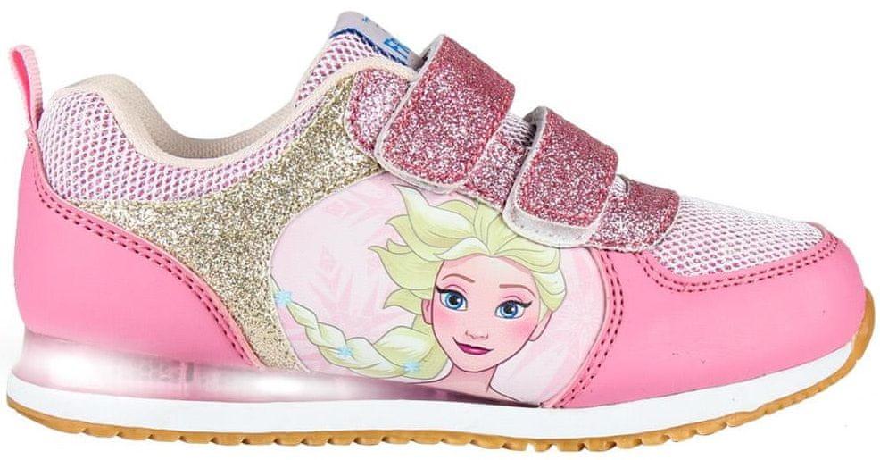 Disney dívčí svítící tenisky Frozen 29 růžová