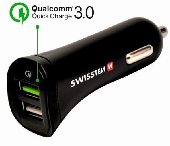 SWISSTEN CL Adaptér Quick Charge 3.0 a USB 2,4 A 18 W power + kabel micro USB, 20111610