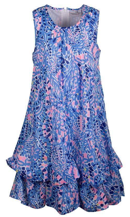 Happy Girls dívčí šaty 128 modrá