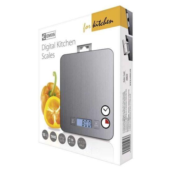 Emos Digitální kuchyňská váha EV023, stříbrná