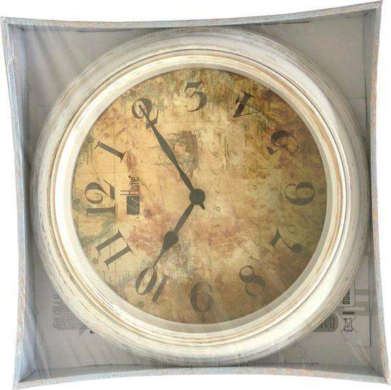 DUE ESSE Nástěnné kulaté hodiny 30,5 cm Art Home, mapa