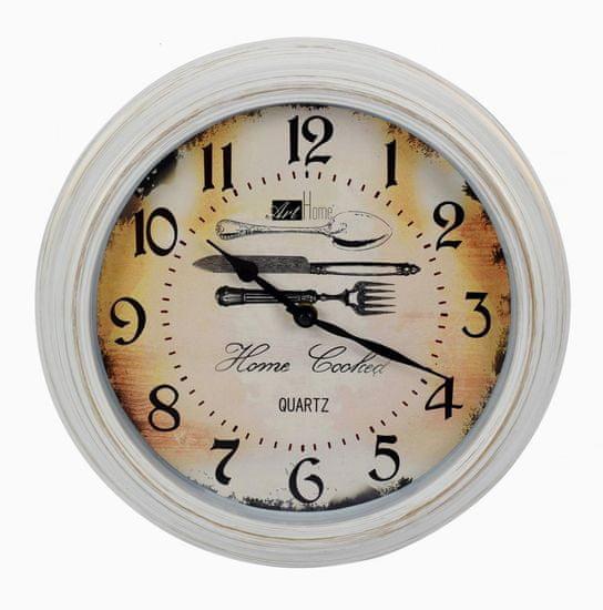 DUE ESSE Nástěnné kulaté hodiny 30 cm Art Home, příbor