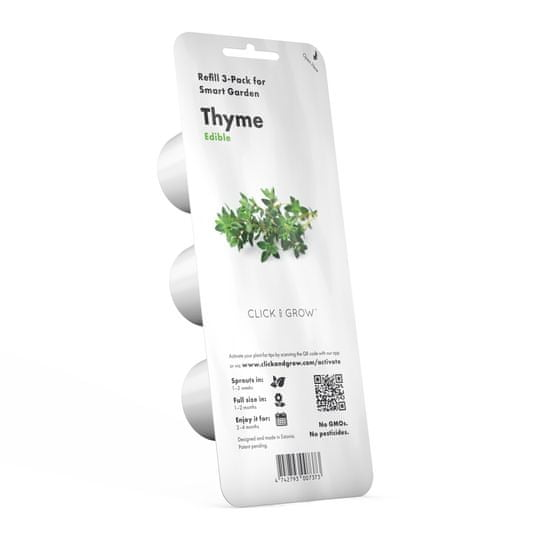 Click and Grow náplň pre smart kvetináče a farmy - Tymián, 3ks v balení