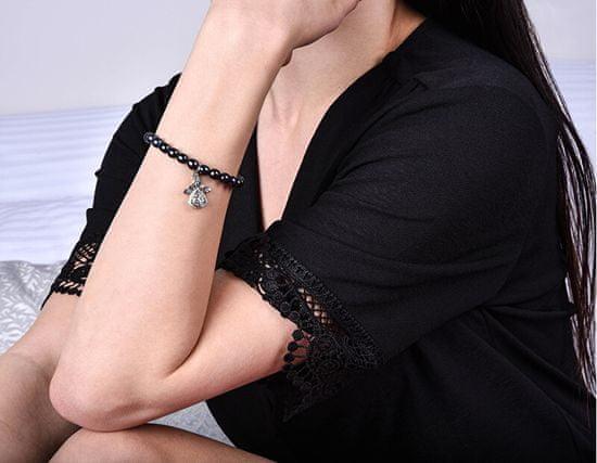 JwL Luxury Pearls Biserna zapestnica s kovinskim angelom JL0524