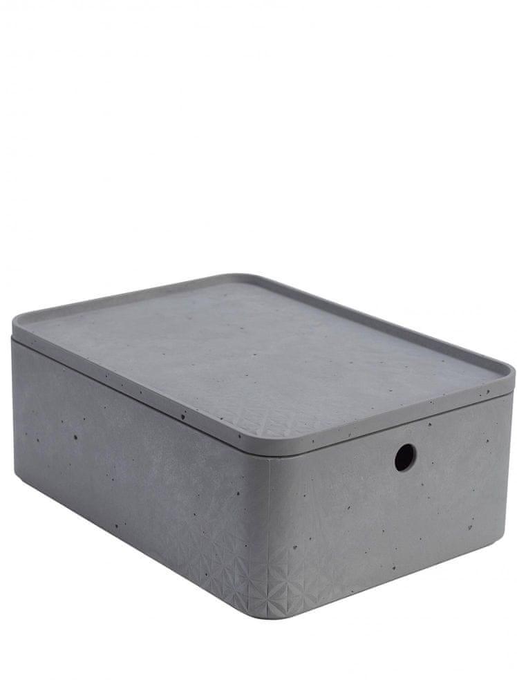 Curver úložný box beton L s víkem