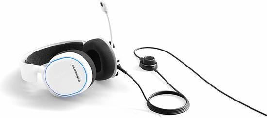 SteelSeries słuchawki Arctis 5 (2019 Edition), białe (61507)
