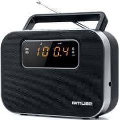 Muse M-081 R tranzistor, črn