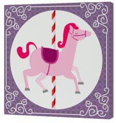 mr.Fox Nástenný obraz Spit Spot - ružový kôň, 27x27 cm