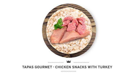 Mediterranean Natur Pamlsky pro psy Tapas kuře a krůta