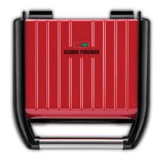 George Foreman 25040-56 Steel Family Grill Red kontaktni žar, rdeč