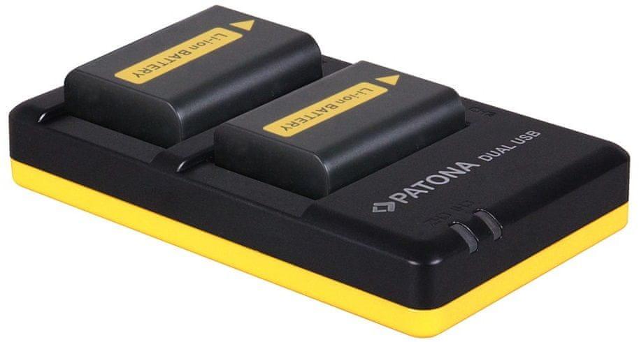 PATONA Nabíječka Foto Dual Quick Sony NP-FW50 + 2× baterie 1030 mAh USB, PT1964B