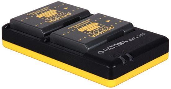 PATONA Nabíječka Foto Dual Quick Nikon EN-EL14 + 2× baterie 1100 mAh USB, PT1966B