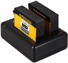 PATONA Sada pre digitálnu kameru Dual GoPro Hero 4 nabíjačka + 2× batéria 1160 mAh USB, PT1983B