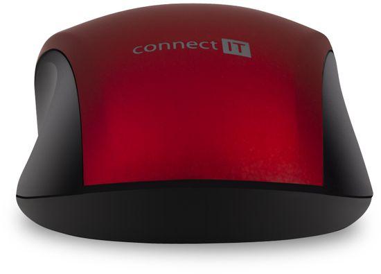 Connect IT mysz Mute, czerwona (CMO-2230-RD)