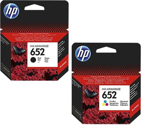 HP patron 652. sz. fekete + színes (F6V25AE + F6V24AE)