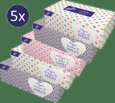 LINTEO Papírové kapesníky v krabičce 5 x 200 ks