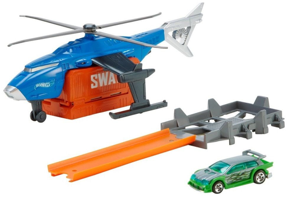 Hot Wheels Super akce Super SWAT Copter