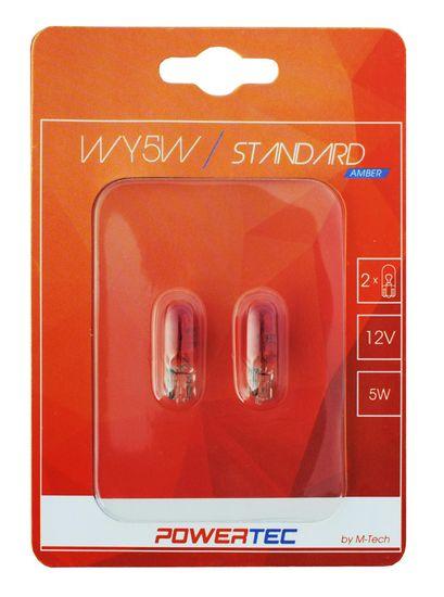 POWERTEC žarulja Standard T10 WY5w 12V 5W Amber