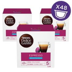 NESCAFÉ Dolce Gusto Espresso Decaffeinato kava brez kofeina 96g (16 kapsul), trojno pakiranje